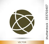 global technology vector icon | Shutterstock .eps vector #353703407
