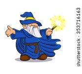 blue wizard cartoon | Shutterstock .eps vector #353716163