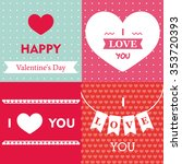 happy valentine's day card    Shutterstock .eps vector #353720393
