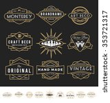 set of retro badges logos for... | Shutterstock .eps vector #353721317
