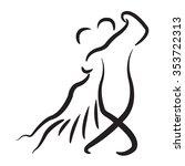 Dancing Couple Logo Isolated O...