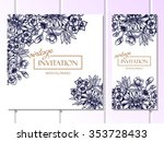 invitation with floral... | Shutterstock .eps vector #353728433