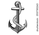 vintage anchor rope nautical | Shutterstock .eps vector #353730263