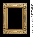 The Antique Gold Frame Isolate...