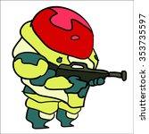 alien bad guy army cartoon... | Shutterstock .eps vector #353735597