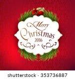 beautiful label christmas decor ... | Shutterstock .eps vector #353736887