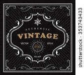 vintage frame western label ... | Shutterstock .eps vector #353743433