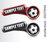 soccer ball on modern style... | Shutterstock .eps vector #35375944