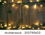 holiday christmas rough wood... | Shutterstock . vector #353790653