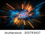 abstract science or technology... | Shutterstock . vector #353793437