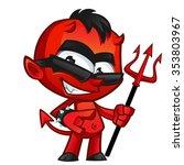 young demon or devil  the devil ... | Shutterstock .eps vector #353803967