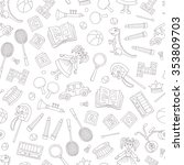 vector seamless pattern with... | Shutterstock .eps vector #353809703