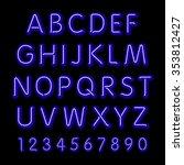 neon glow alphabet.  design... | Shutterstock . vector #353812427