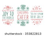 Handdrawn Christmas Badges Wit...