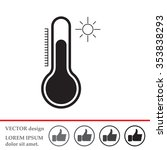 thermometer icon   vector... | Shutterstock .eps vector #353838293