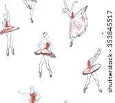 vector sketch of girls... | Shutterstock .eps vector #353845517
