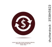money convert vector icon | Shutterstock .eps vector #353845823