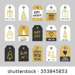 set of christmas and new year... | Shutterstock .eps vector #353845853