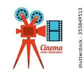 cinema film design  vector...   Shutterstock .eps vector #353849513