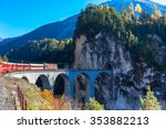 The Train Of  Rhaetian Railway...