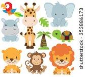 Jungle Animal Vector...
