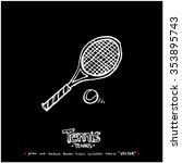 hand drawn sports illustration  ... | Shutterstock .eps vector #353895743