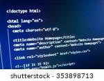 software developer programming... | Shutterstock . vector #353898713