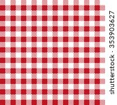 red patterns tablecloths...   Shutterstock .eps vector #353903627