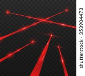 Abstract Red Laser Beams....