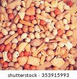 peanut cocktail snack variety... | Shutterstock . vector #353915993