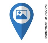 photo   vector icon  blue map ...