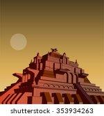 aztec    mayan pyramid | Shutterstock .eps vector #353934263
