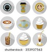 coffee types vector set | Shutterstock .eps vector #353937563