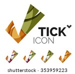 set of abstract ok and tick... | Shutterstock .eps vector #353959223
