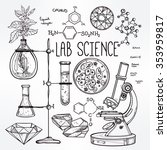 hand drawn science beautiful... | Shutterstock .eps vector #353959817