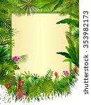 tropical background with... | Shutterstock . vector #353982173