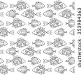 nice cartoon fishes set. vector ...   Shutterstock .eps vector #353984363