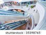 Modern Shopping Mall. People I...