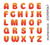 alphabet with strawberry juice...   Shutterstock .eps vector #353989067
