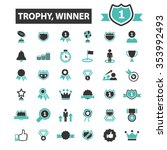 award trophy  achievement ... | Shutterstock .eps vector #353992493