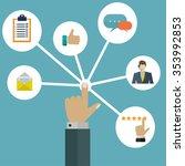 customer user interactions...   Shutterstock .eps vector #353992853
