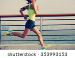 young fitness woman runner... | Shutterstock . vector #353993153