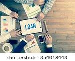 business team concept  loan   Shutterstock . vector #354018443