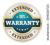 light blue extended warranty...   Shutterstock .eps vector #354026723