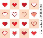 creative vector set collection... | Shutterstock .eps vector #354053537