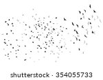 Stock vector flying birds vector sketch 354055733