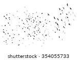 flying birds vector sketch. | Shutterstock .eps vector #354055733