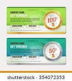 vector gift voucher template....   Shutterstock .eps vector #354072353