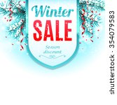 winter sale banner decorated... | Shutterstock .eps vector #354079583