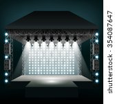 Concert Stage With Spotlights....
